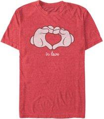 fifth sun men's glove heart short sleeve t-shirt