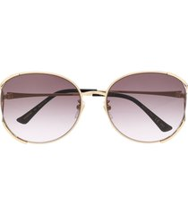 gucci eyewear gg0650sk soft-round sunglasses - black