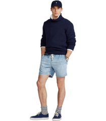 polo ralph lauren men's 6.5-inch polo prepster denim shorts