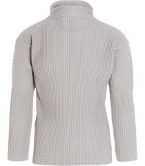 homme plissé issey miyake basics plissé sweater
