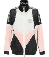 versace full zip nylon jacket