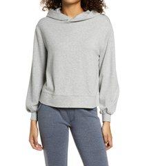 alternative blair interlock hoodie, size x-small in heather grey at nordstrom