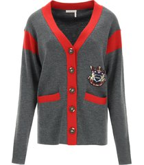 see by chloé college style cardigan
