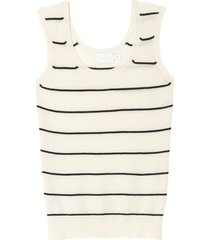 striped knit regency vest