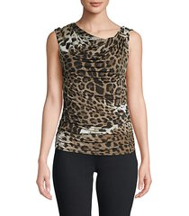 draped leopard print top