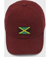 bonã© kanui dad cap jamaica flag vinho - vinho - dafiti