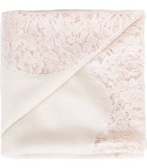 ivory chantilly center panel shawl