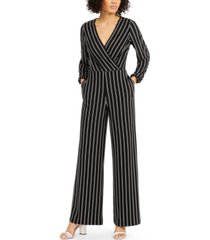 inc v-neck striped jumpsuit, created for macy's