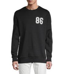 helmut lang men's graphic crewneck sweatshirt - black - size xxl