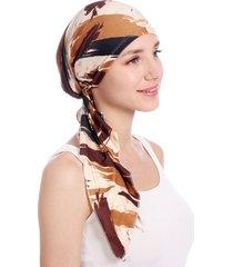 cappello con turbante in cotone pastorale con stampa floreale cappello con turbante in cotone estivo con doppio turbante