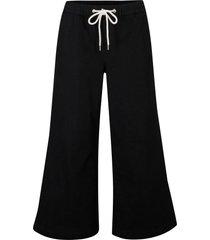 pantaloni culotte ultra morbidi con laccetto e cinta comoda (nero) - bpc bonprix collection