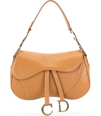 christian dior pre-owned saddle shoulder bag - brown