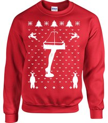 leg lamp christmas story ugly christmas sweater unisex crew neck sweatshirt b102