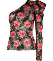 john richmond one shoulder blouse - black