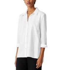 eileen fisher organic cotton shirt, regular and plus sizes