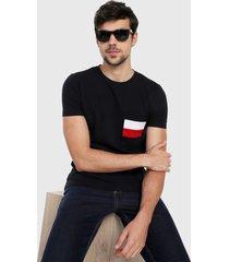camiseta azul oscuro-blanco-rojo tommy hilfiger