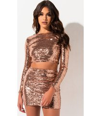 akira all the time sequin long sleeve top