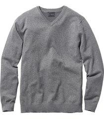 maglione con scollo a v (grigio) - bpc selection