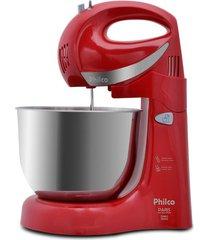 batedeira philco paris inox duo mixer turbo 2 vermelha 350w 127v