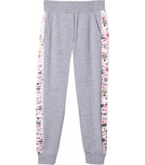 monnalisa sport trousers with flower bands