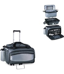 oniva by picnic time vulcan portable propane grill & cooler tote with trolley