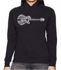 la pop art women's word art hooded sweatshirt - country guitar