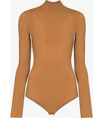 maison margiela high-neck fitted bodysuit - neutrals