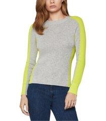 bcbgmaxazria colorblocked sweater