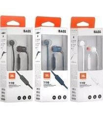 audifonos auriculares jbl t110 manos libres originales nuevos