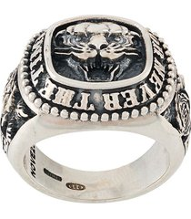 nove25 traditional panther ring - silver
