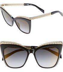 women's moschino 52mm cat's eye sunglasses -