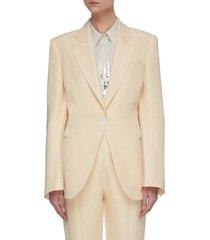 blanket stitch suit jacket