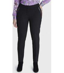 pantalon formal crop negro lorenzo di pontti
