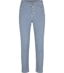 jeans cropped a righe (blu) - john baner jeanswear