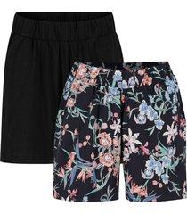shorts in jersey di cotone (pacco da 2) con cinta comoda (nero) - bpc bonprix collection