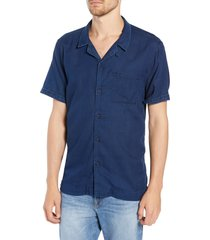 men's frame slim fit camp shirt