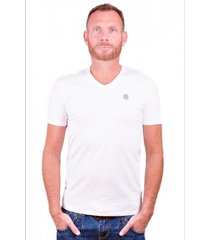 antony morato t-shirt basic white v-neck
