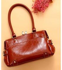 donna vera pelle borsa a tracolla di design vintage borsa