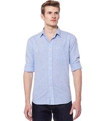 camisa celeste equus génova classic fit