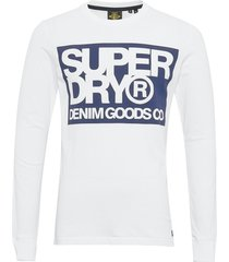 denim goods co print ls tee t-shirts long-sleeved vit superdry