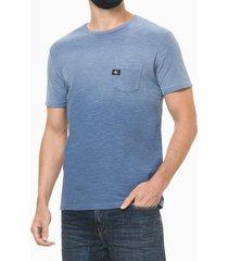 camiseta mc regular lisa flame pig gc - azul médio - pp