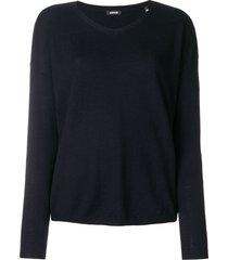 aspesi v-neck pullover - blue