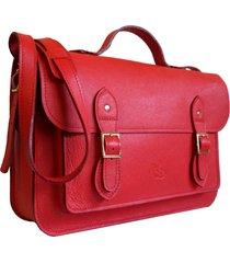 bolsa line store leather satchel grande couro vermelho.