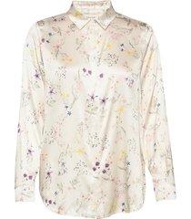 alicia blouse blouse lange mouwen wit by malina