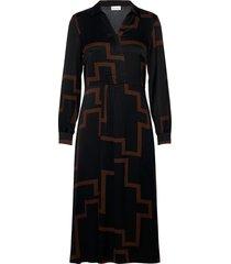dress woven fabric knälång klänning svart gerry weber