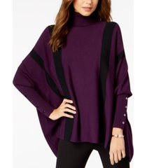 alfani striped poncho sweater, created for macy's