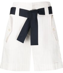 eleventy striped-print bermuda shorts - white