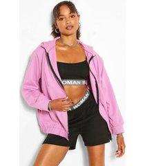 oversized hoodie met elastische taille, lila