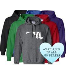 maryland hoodie sweatshirt love home heart unisex men women state