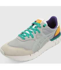 tenis lifestyle beige-gris-multicolor onitsuka tiger rebilac runner,